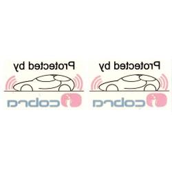 Cobra Car Alarm Window Stickers