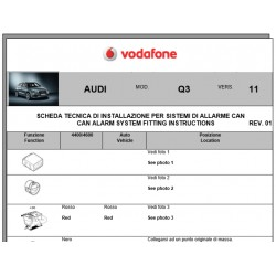 Wiring diagram Audi Q3 2011