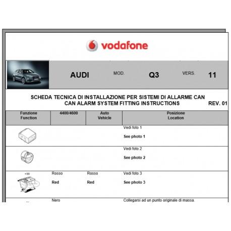 Wiring diagram Audi Q3 2011